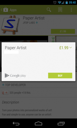 Google Play - Pay for Apps