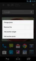 Aviate - Change image or add widget