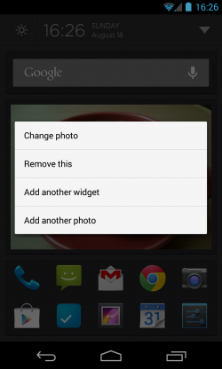 Aviate - Change image or add widget