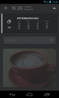 Aviate - Drag down widget