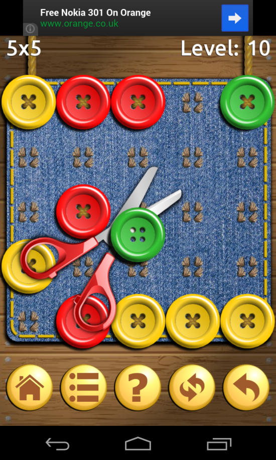 Buttons and Scissors – don't judge this by the cover, it's an incredibly addictive puzzler! (Download)