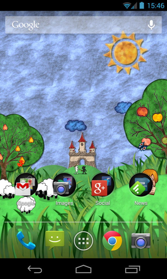 Try Fairy Field Wallpaper – an adorable & cute live wallpaper