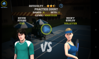 Flick Tennis - Level screen