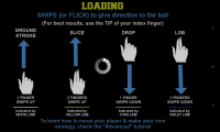 Flick Tennis - Loading new level