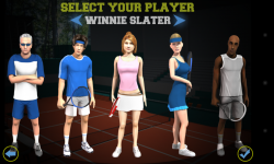 Flick Tennis - Player selection