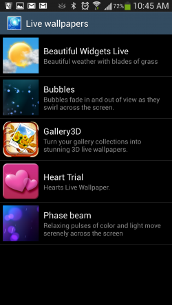 Gallery 3D Live Wallpaper - List of Live Wallpapers