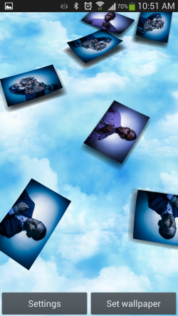 Gallery 3D Live Wallpaper - Pic Drop