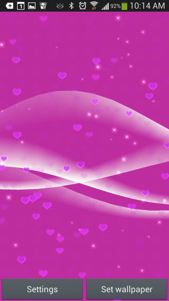 Heart Live Wallpaper – personalize your Droid with infinite heart shapes