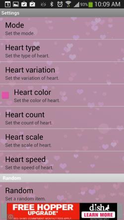 Heart Live Wallpaper - Settings 1