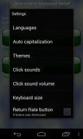 Keyboard-Relief 2 - Settings