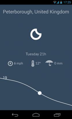 Nice Weather - Night interface
