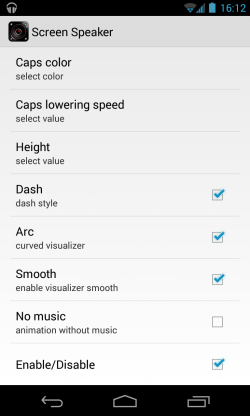 Screen Speaker Music Wallpaper - Additional settings