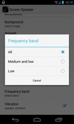Screen Speaker Music Wallpaper - Band settings