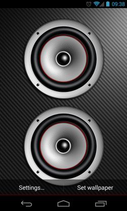 Screen Speaker Music Wallpaper - Dual speakers