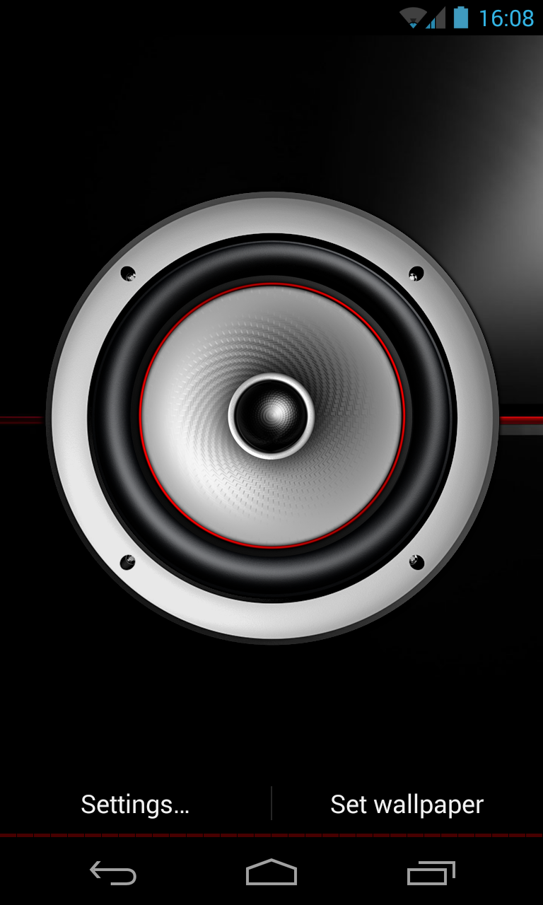 screen speaker music wallpaper preview 1 androidtapp