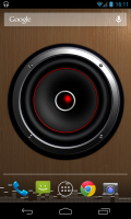 Screen Speaker Music Wallpaper - Visible sound waves, excellently animated