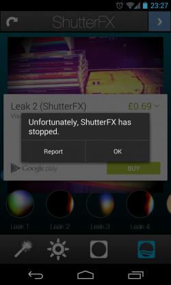 ShutterFX - Crashing