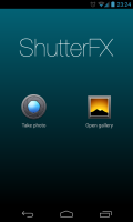 ShutterFX - Launch screen and image select