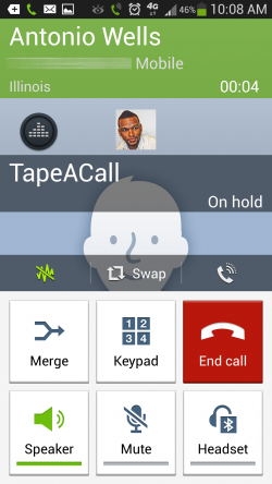 TapeACall - Call On Hold