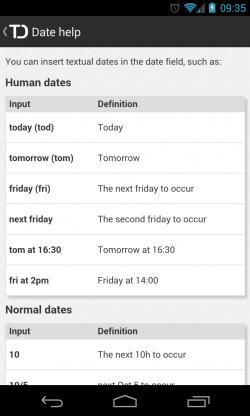 Todoist - Date help