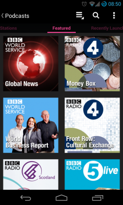 iPlayer Radio - Featured podcasts