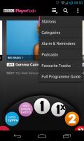 iPlayer Radio - Menu