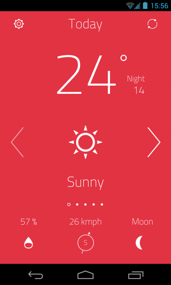 oW Weather – a beautifully minimalist weather application