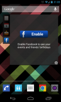 All-in-One Agenda Widget - Facebook functionality prompt