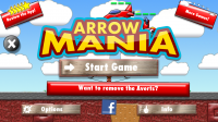 Arrow Mania - Start Screen