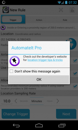 AutomateIt - Hints and tips