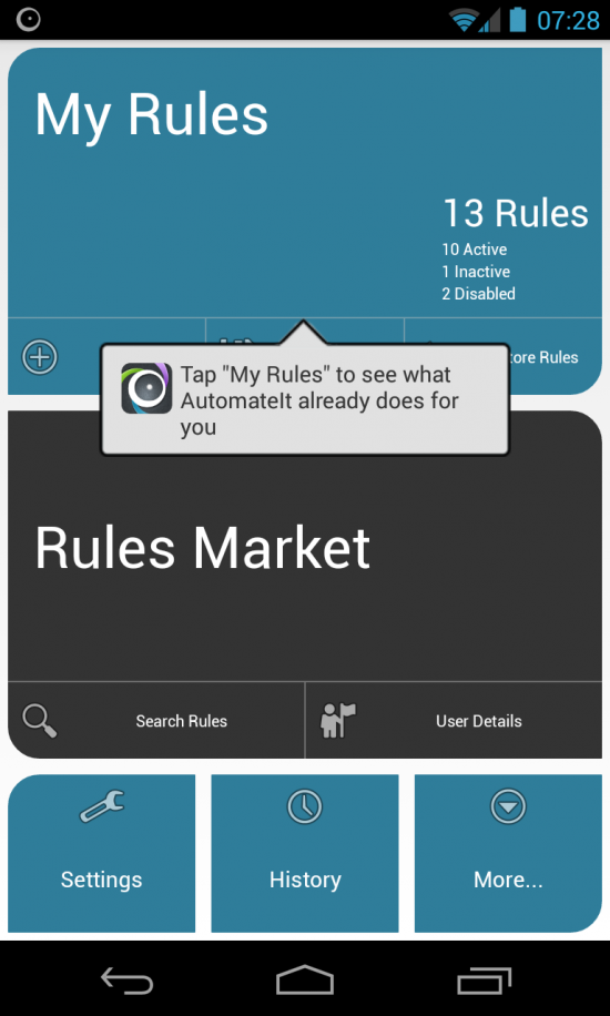 AutomateIt – fully automate your Android & make it work smarter