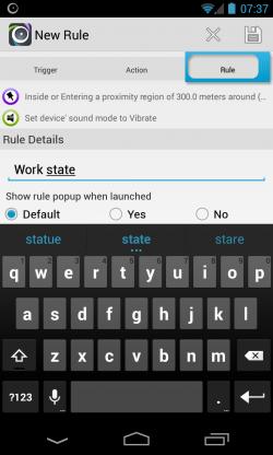 AutomateIt - Rule info