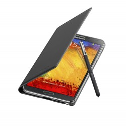 Galaxy Note 3 Flip Cover Open Pen Jet Black
