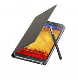 Galaxy Note 3 Flip Cover Open Pen Mocha Gray