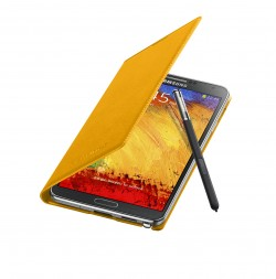 Galaxy Note 3 Flip Cover Open Pen Mustard Yellow