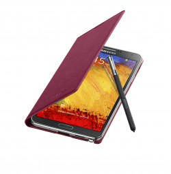 Galaxy Note 3 Flip Cover Open Pen Plum Magenta