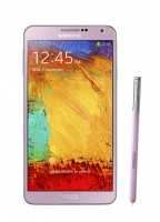 Galaxy Note 3 front with pen Blush Pink