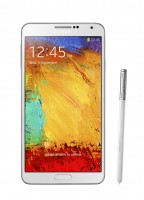 Galaxy Note 3 front with pen Classic White