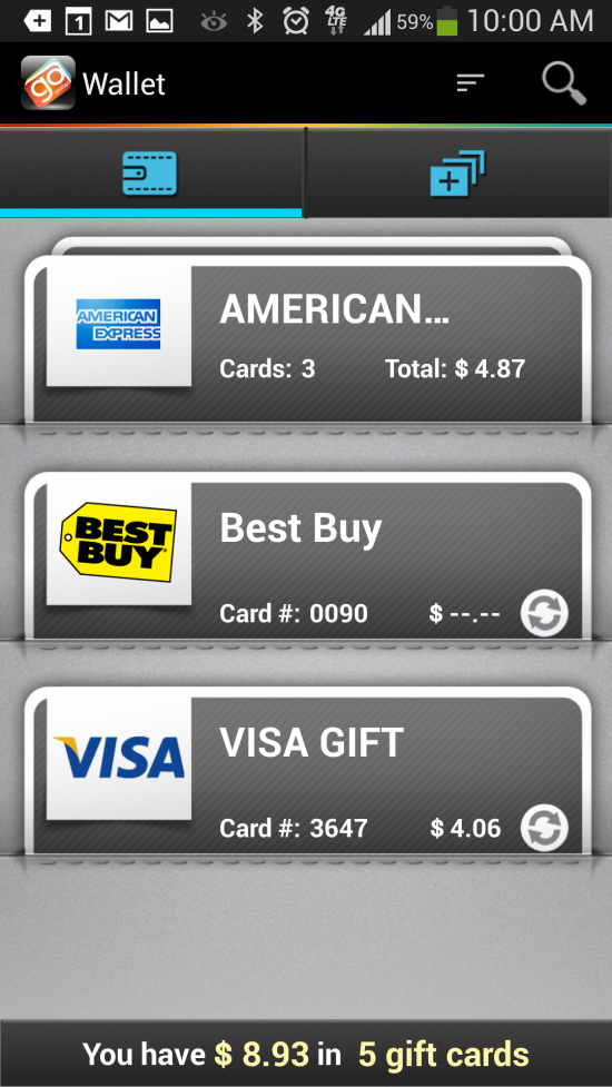 GoWallet Mobile – conveniently store all your gift cards in one app