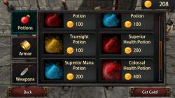 Mana Rush - Buy Potions