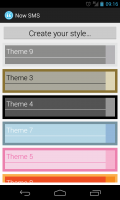 Now SMS - Plenty of themes to choose from