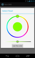 Now SMS - Select colours for own theme