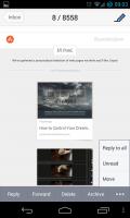 Solmail - Email menu