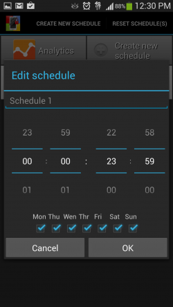 Supervisor - Create Schedule