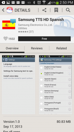 TrainBrain - Voice File on Samsung Apps