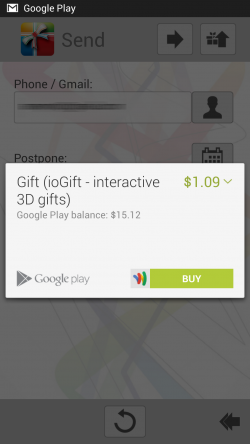 ioGift interactive 3D gifts - Purchase eCards