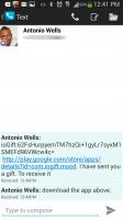 ioGift interactive 3D gifts - Receipt Via Text Message