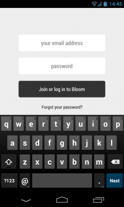 Bloom.fm - Account login