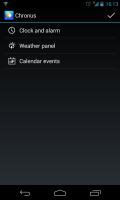 Chronus - Settings menu