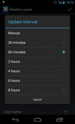 Chronus - Update interval